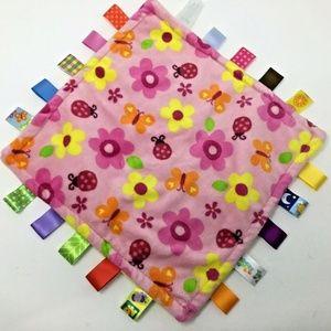 Taggies~Lovey~Pink Plush~Flowers~Butterflies